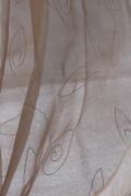 13 Sötét bézs-hímzett-fényáteresztő-függöny