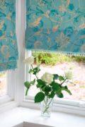 Türkiz mintás, bátran használhatjuk különböző mintás textileket