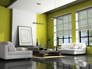 fehér 2 ablakos roló függöny minimalista otthonokba