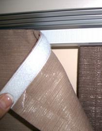 textil rögzítése tépőzárral