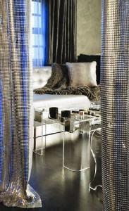 ezüst metál textil