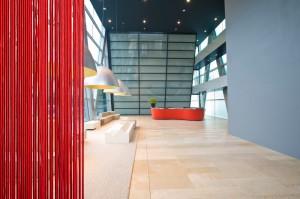 design megoldás irodaházban