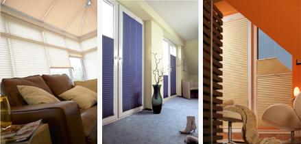 trapéz, nehezen függönyözhető ablakaira a legjobb megoldás