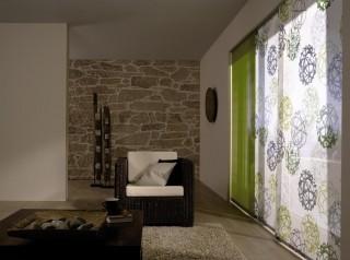 színes lapfüggöny