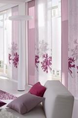 Rózsaszín fehér lapfüggöny