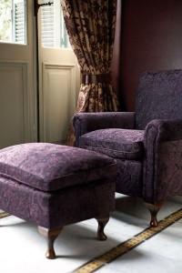 klasszikus, lila kárpit, óriási lakástextil választék